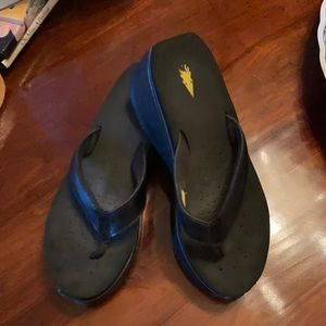 Volatile Black Flip Flops